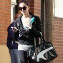 Ashley Greene goes to gym