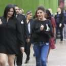 Tiffani Thiessen shops with a friend at The Grove in Los Angeles, California on April 4, 2017