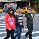 iCarly cast Miranda Cosgrove, Jennette McCurdy, Nathan Kress and Noah Munck, were seen hanging out and enjoying the sights in New York City, New York on May 18