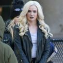 Danielle Panabaker – On the set of 'The Flash' in Vancouver November 7, 2017 - 454 x 681