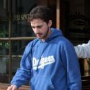 Shia LaBeouf Eating Alone At Greenblatt's Deli In West Hollywood