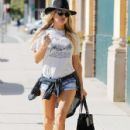 Fergie is spotted heading to a studio in West Los Angeles, California on September 3, 2015
