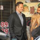 Vince Vaughn is spotted on the set of the hit HBO series 'True Detective' filming in Los Angeles, California on January 30, 2015