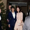 Sally Humphreys and husband Ronnie Wood leaving the Dorchester Hotel in London (December 22, 2012)