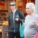 Amy Smart enjoys a day of shopping with her mom Judy in West Hollywood, California on December 15, 2014