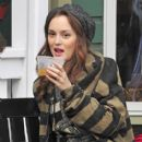 Leighton Meester on the Set of 'Gossip Girl'