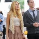 Blake Lively:  The set of Gossip Girl