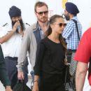 Alicia Vikander and Michael Fassbender at Toronto Airport July 18, 2017 - 454 x 579