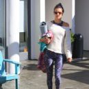 Alessandra Ambrosio – Leaves her yoga class in Brentwood - 454 x 595