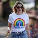 Ashley James – Spotted with her puppy in Local park - 454 x 668