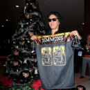 Gene Simmons unveil his KISSMASS Campaign at the Honda Center in Anaheim on December 3, 2013