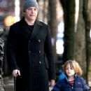 Matthew Broderick with son