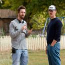 """(L-r) Director MICHAEL POLISH and writer MARK POLISH on the set of Warner Bros. Pictures' family film """"The Astronaut Farmer."""" The film stars Billy Bob Thornton. Photo by Richard Foreman"""