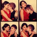 Selena Gomez and Justin Bieber at the Vanity Fair Photo Booth Oscar party 2/27/2011