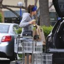 Jessica Biel shopping at Whole Foods in LA