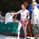 Jennifer Lopez in Leggings Out in New York City - 454 x 522