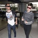 Anne Hathaway: at LAX International Airport
