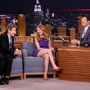 Britt Robertson on 'The Tonight Show Starring Jimmy Fallon' in NY - 454 x 303