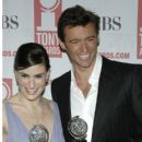 Idina Menzel and Hugh Jackman At The 58th Annual Tony Awards - Press Room (2004) - 404 x 594