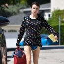 Emma Roberts – In shorts out and about in Los Feliz
