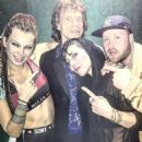 Elliphant with Mick Jagger, Noomi Rapace & Pellegrosso at Oslo Hackney in London, UK • April 16, 2016