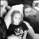 Zakk Wylde with wife Barbaranne & son Sabbath - 454 x 454