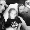 Zakk Wylde with wife Barbaranne & son Sabbath