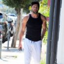 Maksim Chmerkovskiy stops by Hammer & Nails, a nail salon for men, in West Hollywood, California on August 7, 2014 - 420 x 594