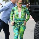 Jennifer Lopez – Out for brunch with the family in Miami
