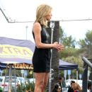 Charissa Thompson On Extra Set In Los Angeles