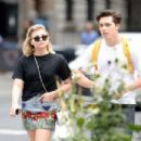 Chloe Moretz in Mini Skirt out in NYC - 454 x 302