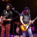 Slash performs at 'Across The Great Divide' benefit concert presented by UpperWest Music Group at Ace Theater Downtown LA on October 19, 2018 in Los Angeles, California - 454 x 307