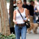 Jennifer Aniston takes a casual stroll through the West Village 9/28/11