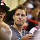 Juan Pablo Galavis attends a Miami Heat basketball game with friends on December 17, 2014 in Miami, Florida - 442 x 594
