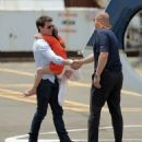 Tom Cruise and Suri taking a helicopter ride (July 18)