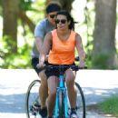 Lea Michele – Bike Riding in The Hamptons - 454 x 612