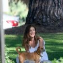 Minka Kelly takes her dog Fred to the park in Beverly Hills - 454 x 551