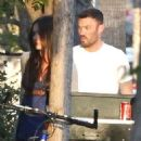 Megan Fox and Brian Austin Green out for lunch at Spark Grill in Studio City, California (July 6)