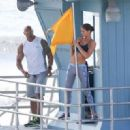 Dwayne Johnson- March 28, 2016-The Set of Baywatch - 454 x 320