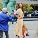 Joan Smalls – Doing a photoshoot in New York - 454 x 574