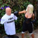 Courtney Stodden – Takes shots at her ex Doug Hutchinson punching shirt in Beverly Hills - 454 x 395