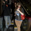 Anna Kendrick - at LAX Airport 25/01/11