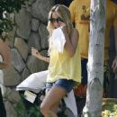 Nicole Richie In Yellow Top & Denim Shorts Out In LA - Apr 12 2008