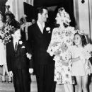 Norma Shearer and Martin Arrouge on their wedding day August 23, 1942