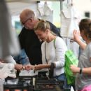 Cameron Diaz and Benji Madden at Farmers Market in LA - 454 x 522