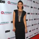 Actress Miranda Rae Mayo arrives at the 2013 Outfest Film Festival closing night gala of 'G.B.F.' at the Ford Theatre on July 21, 2013 in Hollywood, California - 413 x 594