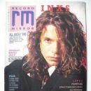 Michael Hutchence - Record Mirror Magazine Cover [United Kingdom] (30 January 1988)