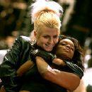 Mercury (Arly Jover) threatens Karen (N'Bushe Wright) in New Line Cinema's Blade - 1998