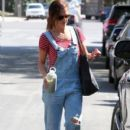 Minka Kelly spotted out running errands in West Hollywood, California on August 27, 2015
