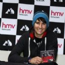 Big Time Rush stopped by the HMV in Manchester, England yesterday, February 6, to meet some of their fans